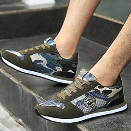 Canvas Camouflage Lace-Up Chic Men's Sneakers