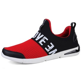 Mesh Color Block Slip-On Men's Sneakers