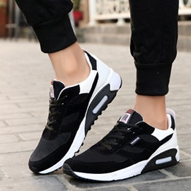 Mesh Color Block Lace-Up Discount Sneaker for Men