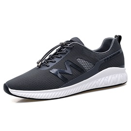 Mesh Lace-Up Patchwork Men's Athletic Sneakers