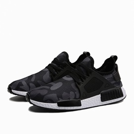 Mesh Camouflage Patchwork Lace-Up Sneakers