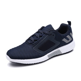Mesh Lace-Up Plain Portable Men's Sneakers