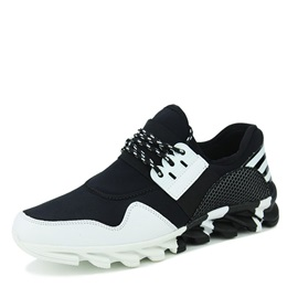 Cloth Patchwork Breathable Lace-Up Men's Sneakers