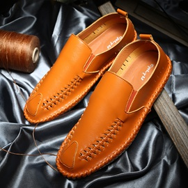 PU Sewing Slip-On Korea Men's Casual Shoes