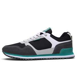 Mesh Color Block Low-Cut Upper Korea Men's Sneakers