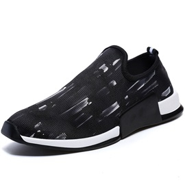 PU Cloth Slip-On Color Block Men's Sneakers