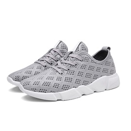 Mesh Letter Plain All Match Men's Sneakers