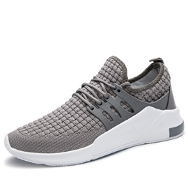 Mesh Patchwork Lace-Up Low-Cut Upper Athletic Sneakers
