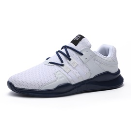 Mesh Color Block Lace-Up Portable Men's Sneakers