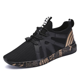 Spandex Lace-Up Patchwork Stripe Men's Sneakers