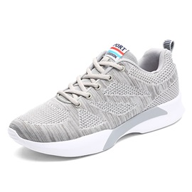 Mesh Lace-Up Patchwork Round Toe Men's Sneakers