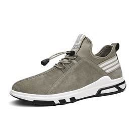 Faux Suede Color Block Low-Cut Upper Men's Sneakers