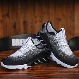 Mesh Lace-Up Low-Cut Upper Men's Chic Sneakers