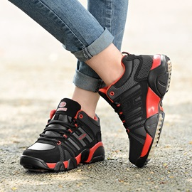 PU Lace-Up Patchwork Mid-Cut Upper Men's Sneakers