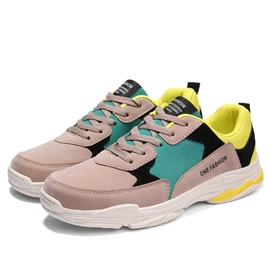 PU Lace-Up Trendy Patchwork Men's Sneakers