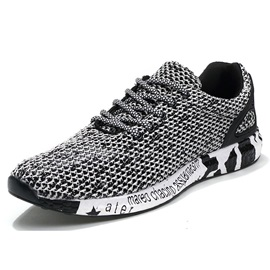 Breathable Mesh Lace-Up Men's Sneakers