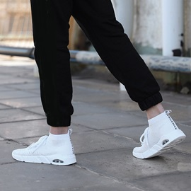 Mesh High-Cut Upper Lace-Up Men's Sneakers