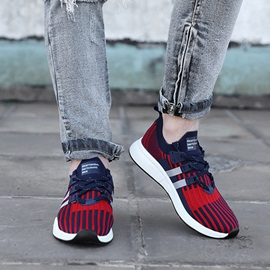 Mesh Low-Cut Upper Lace-Up Men's Breathable Sneakers