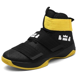 Mesh High-Cut Upper Velcro Men's Sport Shoes