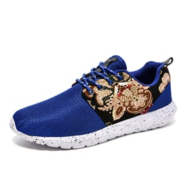 Mesh Patchwork Low-Cut Upper Men's Chic Sneakers