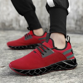 Round Toe Lace-Up Men's Sneakers