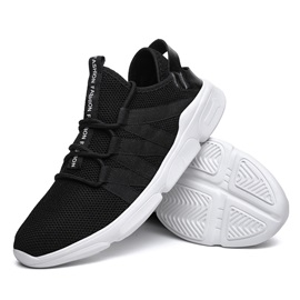 Mesh Lace-Up Men's Comfortable Sneakers