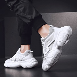 Sports Lace-Up Mesh Men's Chunky Sneakers