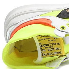 Neon High Top Lace-Up Sports Round Toe Men's Sneakers