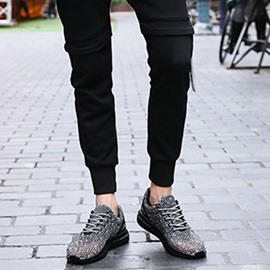 Lace-Up Korean Round Toe Lightweight Men's Sneakers