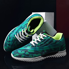 Lace-Up Sports Color Block Men's Sneakers