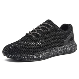 Simple Lace-Up Mesh Men
