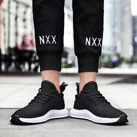 Sports Lace-Up Round Toe Men's Sneakers