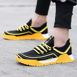 Low-Cut Upper Sports Lace-Up Round Toe Sneakers