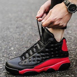 Lace-Up Sports High Top Men's Basketball Shoes