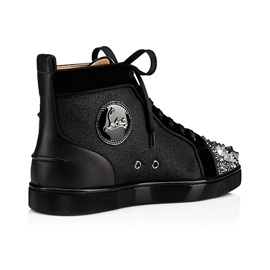 High Top Lace-Up Round Toe Handmade Men's Skate Shoes