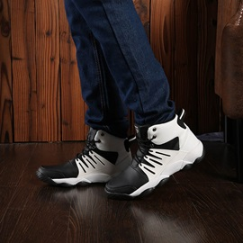 Lace-Up Sports High-Cut Upper Men's Basketball Shoes