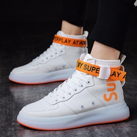 Lace-Up High Top Chic Round Toe Men's Sneakers