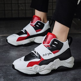 Sports Lace-Up Mid-Cut Upper Mesh Men's Sneakers