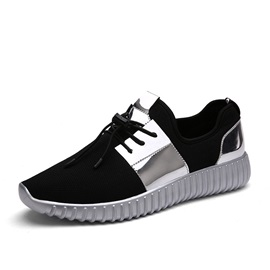 Sports Low-Cut Upper Lace-Up PU Sneakers