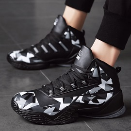 Platform Lace-Up Low-Cut Upper Round Toe Sneakers