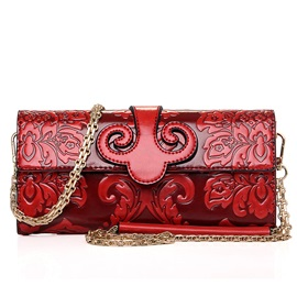 Chain Embossing Women Satchel