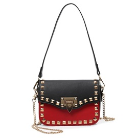 Stylish Rivets Decorated Women's Shoulder Bag