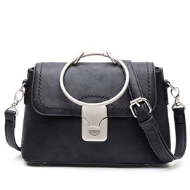 Vogue Metal Circle Latch Shoulder Bag