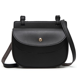 Chic Ellipse Shape Cover Crossbody Bag