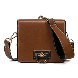 Retro Lock Decoration Crossbody Bag