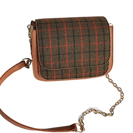 Classical Plaid Mini Women Crossbody Bag