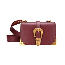 Vogue Belt-Decorated PU Cross Body Bag