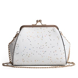 Casual Sequins PU Chain Crossbody Bag