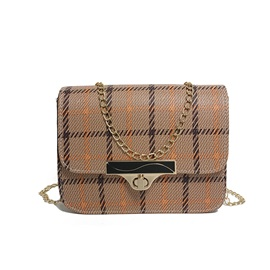 Casual Plaid Chain Mini Crossbody Bag