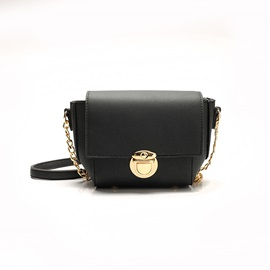 Chic Plain PU Crossbody Bag
